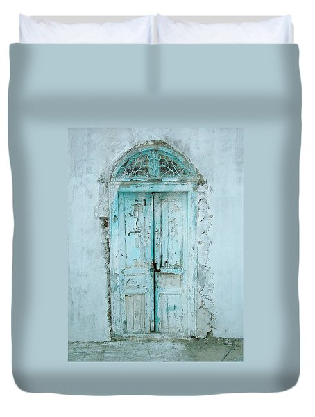 Abandoned Doorway Duvet Cover