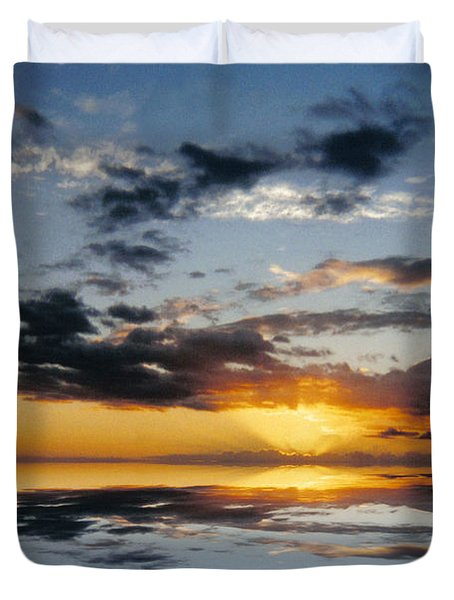 Abstract 129 Duvet Cover by J D Owen