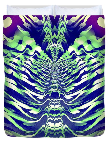 Abstract 140 Duvet Cover by J D Owen