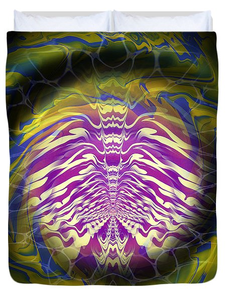 Abstract 141 Duvet Cover by J D Owen