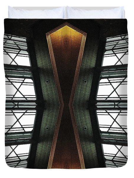 Abstract Empire Deco Duvet Cover by Natasha Marco