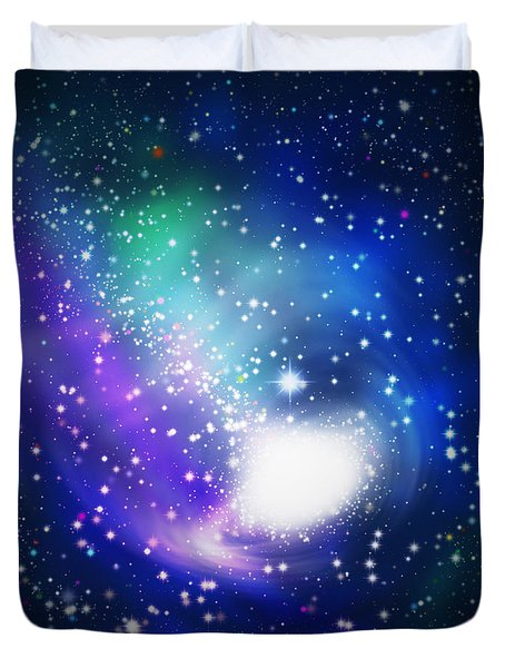 Abstract Galaxy Duvet Cover