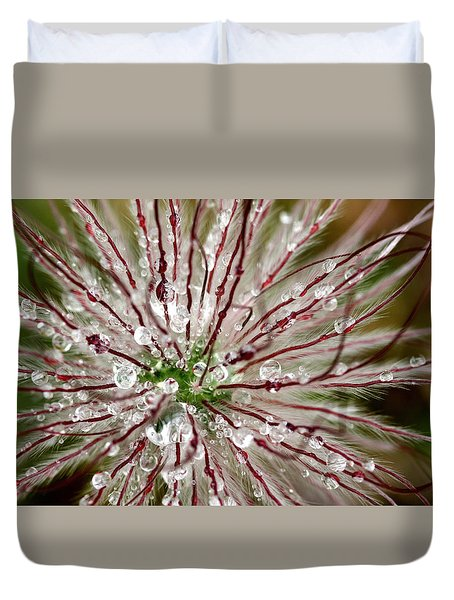 Abstract Macro Flower Head Duvet Cover
