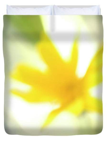 Abstract Of Wildflower In Early Morning Duvet Cover