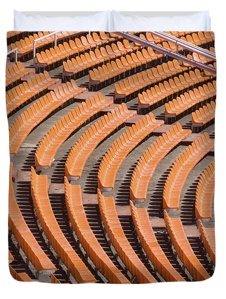 Abstract Pattern - Rows Of The Stadium's Seats Duvet Cover