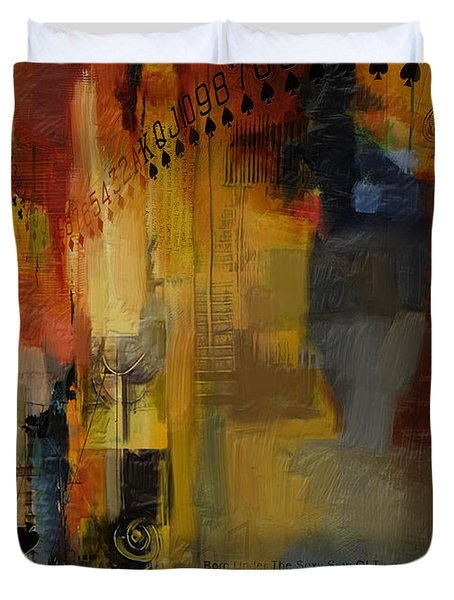 Abstract Tarot Art 013 Duvet Cover by Corporate Art Task Force