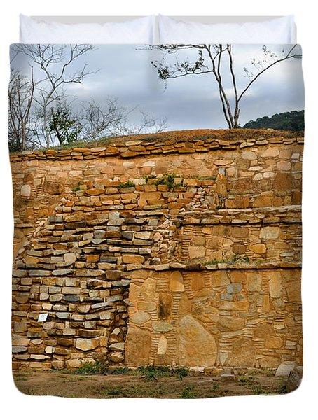 Acapulco Mexico Archaeological Site Duvet Cover