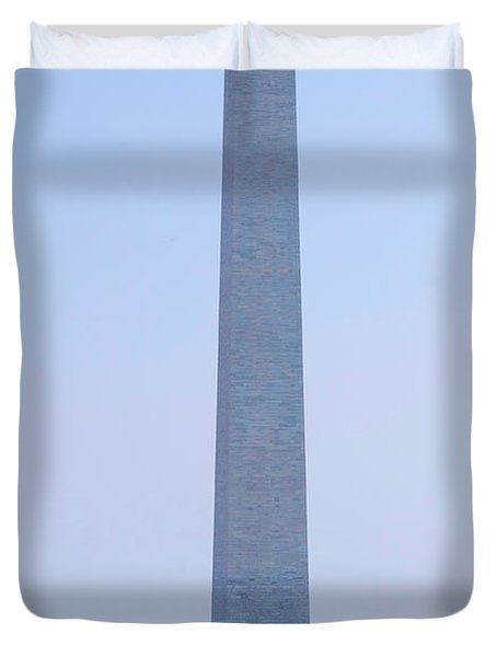 Aerial View Of Washington Monument Duvet Cover