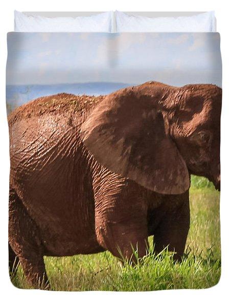 African Desert Elephant Duvet Cover