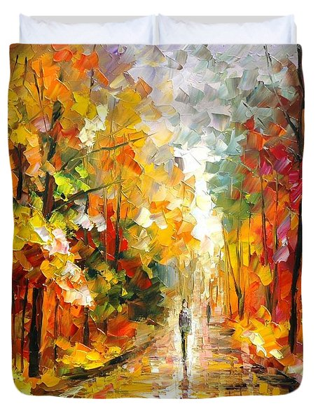 After The Rain Duvet Cover by Leonid Afremov