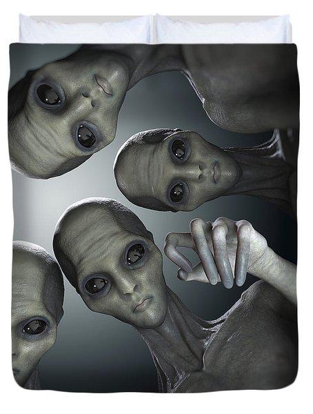 Alien Abduction Duvet Cover