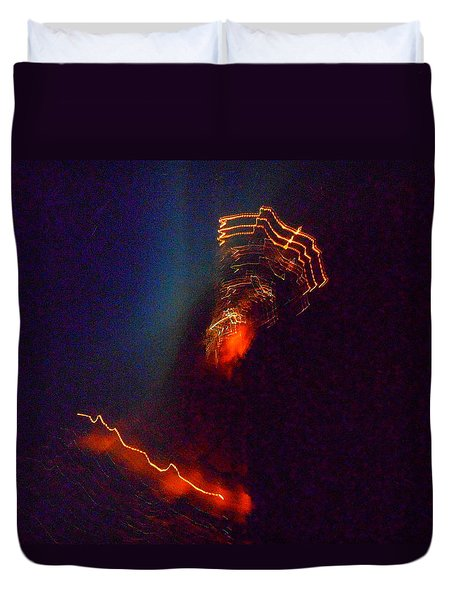 Alien Spacecraft Duvet Cover
