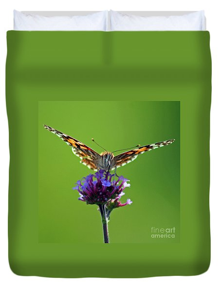 American Painted Lady Butterfly Duvet Cover by Karen Adams