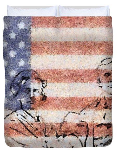American Patriots Duvet Cover by Dan Sproul