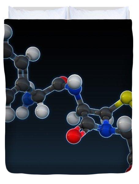 Amoxicillin Molecular Model Duvet Cover