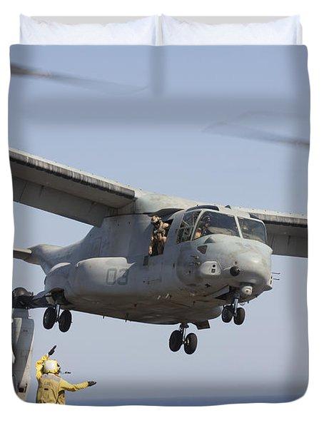An Mv-22 Osprey Takes Duvet Cover