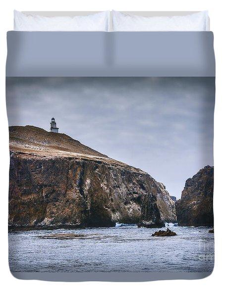 Anacapa Island Lighthouse Duvet Cover