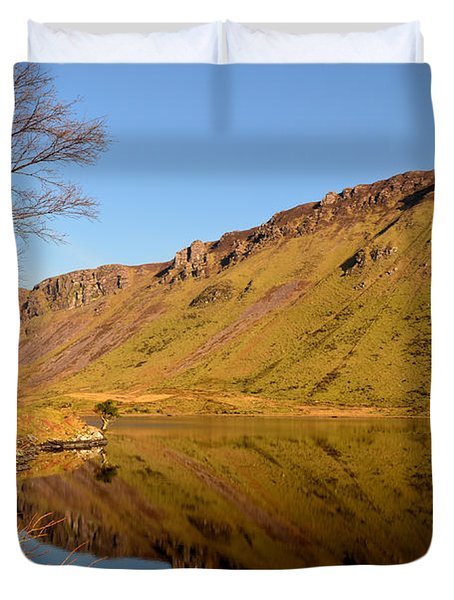 Annascaul Lake Duvet Cover by Barbara Walsh