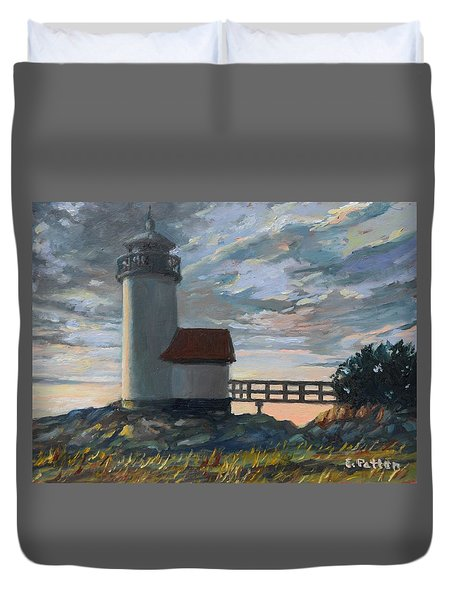 Annisquam Light Duvet Cover by Eileen Patten Oliver