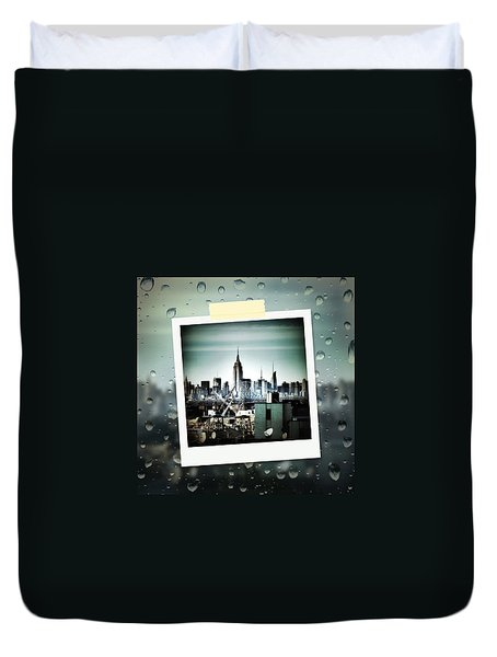 April In Nyc Duvet Cover by Natasha Marco