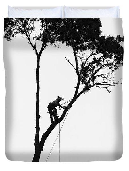 Arborist At Work Duvet Cover