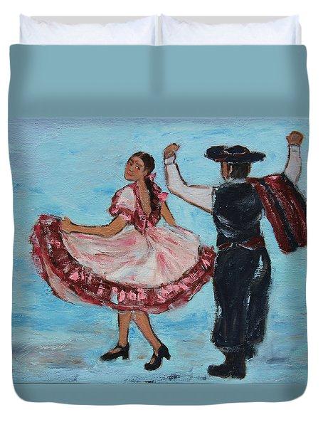 Argentinian Folk Dance Duvet Cover
