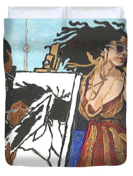 Artist At Work Duvet Cover