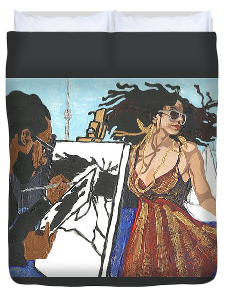 Artist At Work Duvet Cover