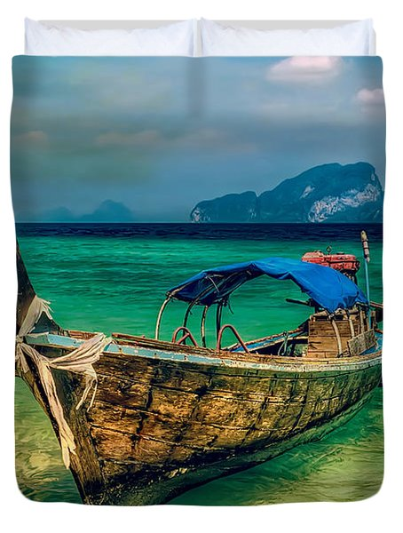 Asian Longboat Duvet Cover by Adrian Evans
