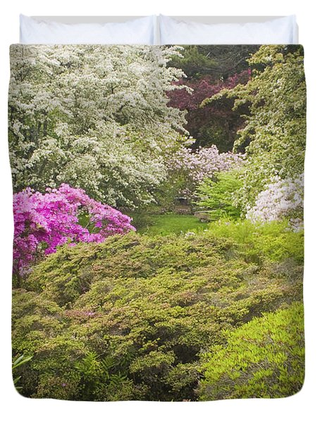 Asticou Azelea Garden - Northeast Harbor - Mount Desert Island - Maine Duvet Cover by Keith Webber Jr