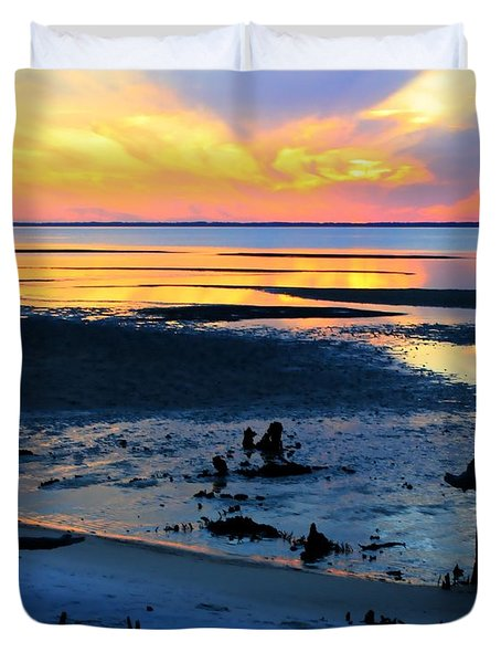 At A Days End Duvet Cover