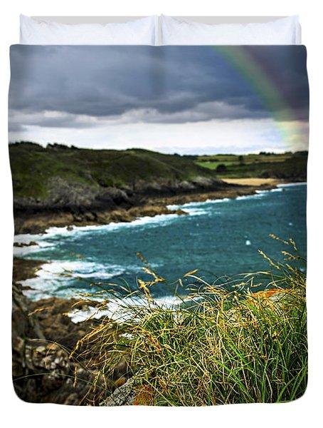 Atlantic Coast In Brittany Duvet Cover