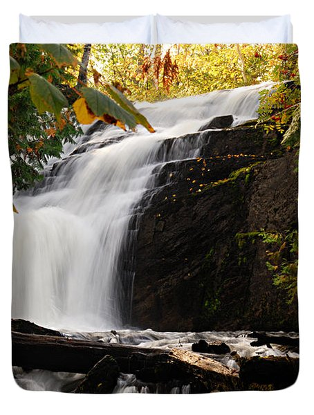 Autumn At Cattyman Falls Duvet Cover