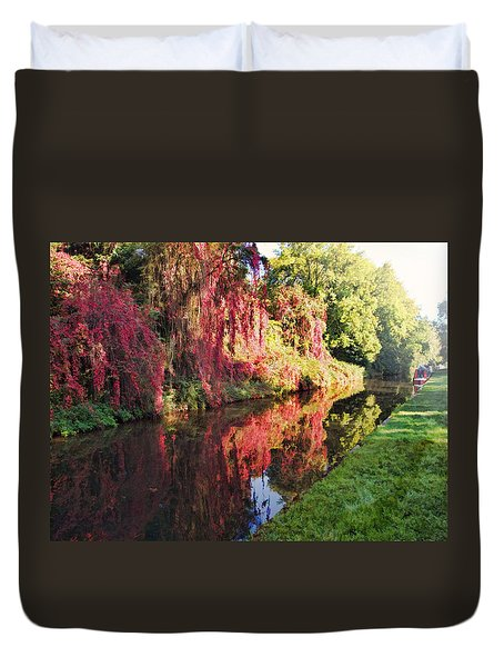 Duvet Cover featuring the digital art Autumn Colours by Paul Gulliver
