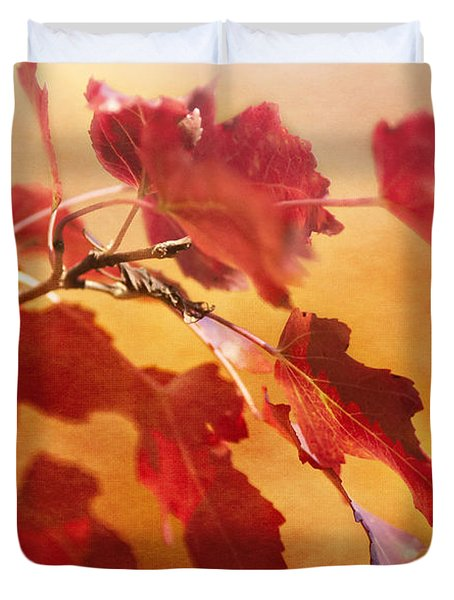 Red Blaze Duvet Cover