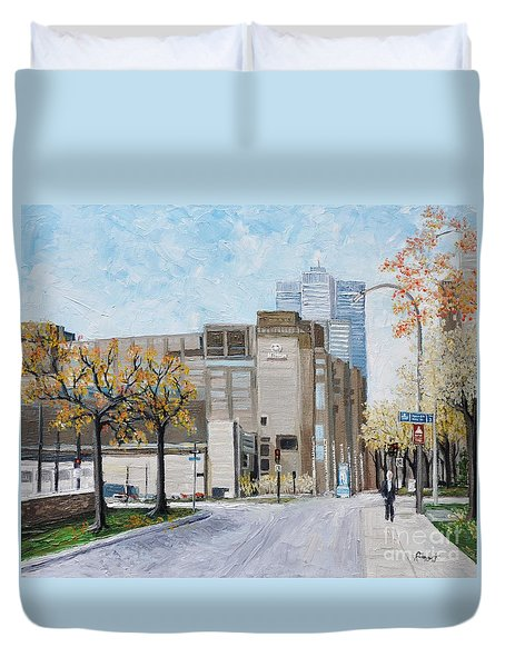 Autumn In The City Duvet Cover by Reb Frost
