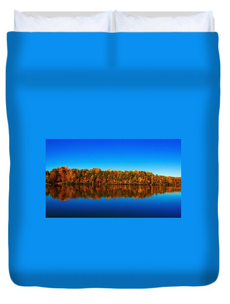 Autumn Reflections Duvet Cover by Andy Lawless