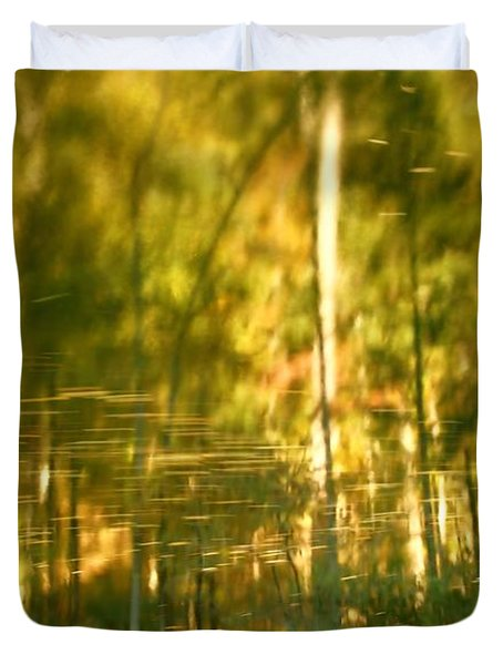 Autumn Reflections In Tennessee Duvet Cover by Dan Sproul