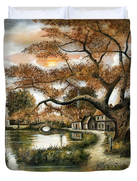 Autumn Stroll Duvet Cover