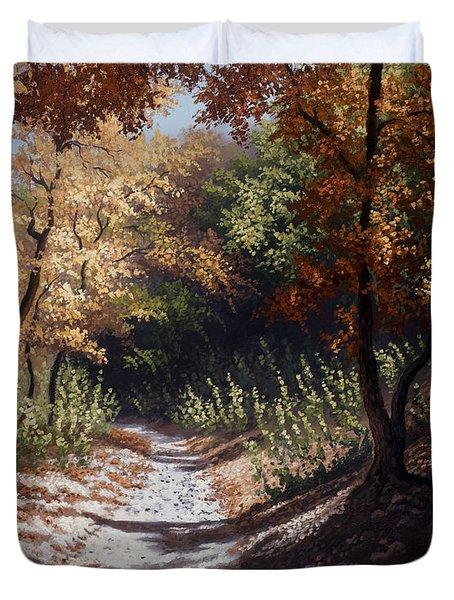 Autumn Trails Duvet Cover by Kyle Wood
