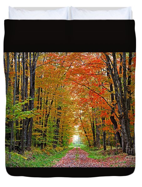 Autumn Walk Way Duvet Cover