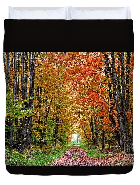 Autumn Walk Way Duvet Cover