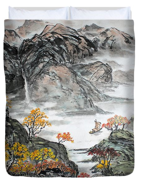Autumn  Duvet Cover by Yufeng Wang
