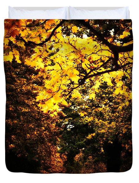 Autumnal Walks Duvet Cover