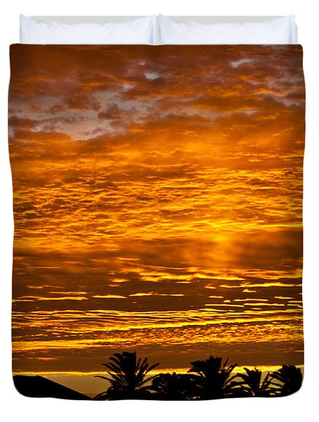 Duvet Cover featuring the photograph 1 Awsome Sunset by Brian Williamson