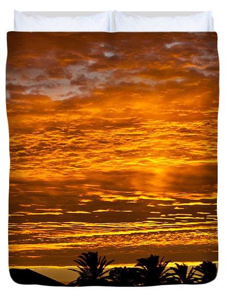 1 Awsome Sunset Duvet Cover