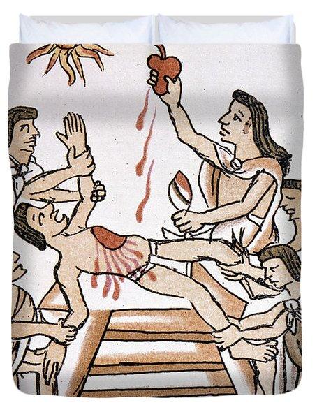 Aztec Ritual Sacrifice Duvet Cover