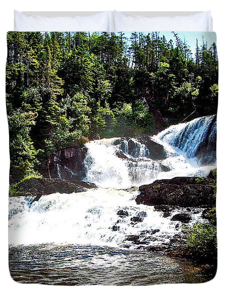 Bakers Brook Falls On Baker's Brook Trail In Gros Morne Np-nl Duvet Cover