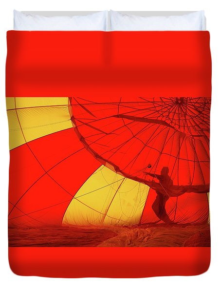 Duvet Cover featuring the photograph Balloon Fantasy 2 by Allen Beatty