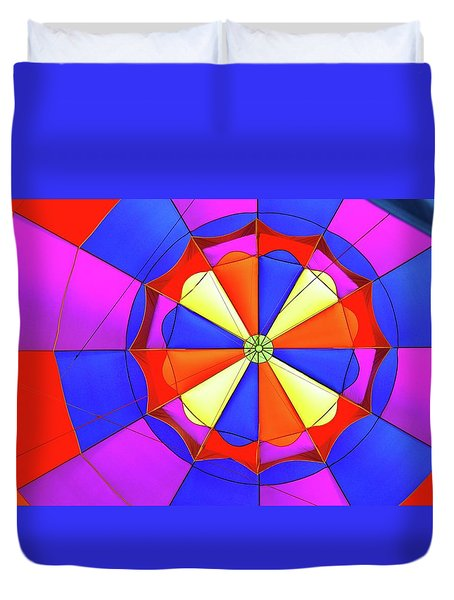 Duvet Cover featuring the photograph Balloon Fantasy 3 by Allen Beatty